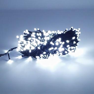 Гирлянда черный провод лампа Рубинка  500LED 26.5 м 8 режимов белый