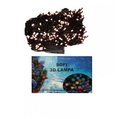 Светодиодная гирлянда SOFI 36,5 м 500LED свеча матовая с черным проводом 8 режимов тёплый белый