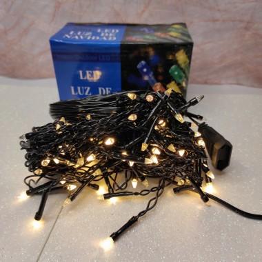 Гирлянда Дождик черный провод с вилкой прозрачная коническая лампа 3 м 120LED теплый белый)