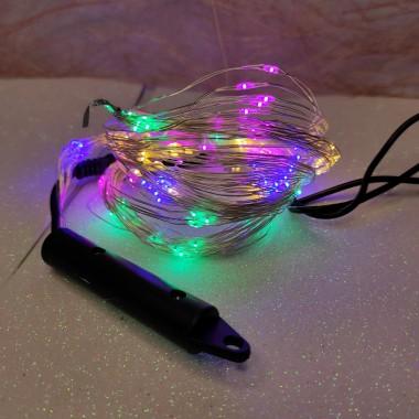 Светодиодная гирлянда нить конский хвост 2м 200 led от сети мульти