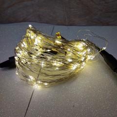 Светодиодная гирлянда нить конский хвост 2м 200 led от сети тёплый белый
