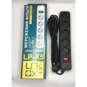 Сетевой фильтр Logicpower  5г.х4,5м. (чёрный)
