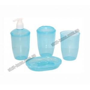 Набір для ванної 4 предмета, пластиковий