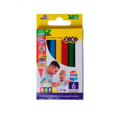 "Карандаши цветные 6 цветов  ""ZiBi"" ZB2450 мини. JUMBO"