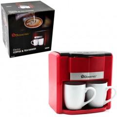 Кофеварка капельная + 2 чашки Domotec MS-0705 500W красный