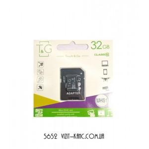 Карта памяти T&G 32GB class 10 (с адаптером)