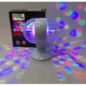Вращающаяся светодиодная лампа Crownerg на две лампочки от сети мульти