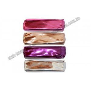 Пенал-косметичка з металізованого пвх, блискавка в колір пенала Срібло, малиновий. Бронзовий, фіолет