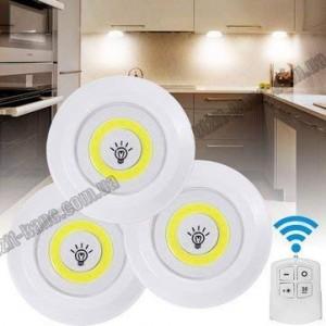 Светильник светодиодный LED с пультом Led Light With (3шт. в комплекте)