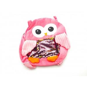 Рюкзак дитячий сова з паєтками, 32*27см, з підкладкою. 6 кольорів мікс