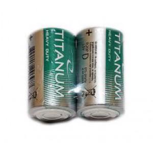 Батарейка R20 Титаниум 1*2 (40)