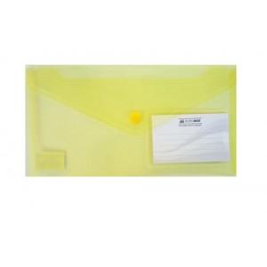 "Папка-конв. пл. DL ""BuroMAX"" 3938-08 на кноп. желт."