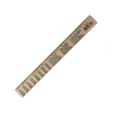 Лінійка деревяна таблиця  множення  (шовкографія) 300мм