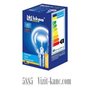 Лампа накаливания Искра R14 40 WT Шарик ГОФРА