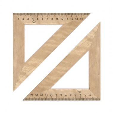 Трикутник дерев'яний 16 см 45х45 1х100,