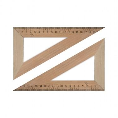 Трикутник дерев'яний 22см 60х90х30,