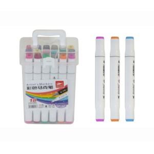 Набір скетч маркерів 18 шт в пластиковому футлярі