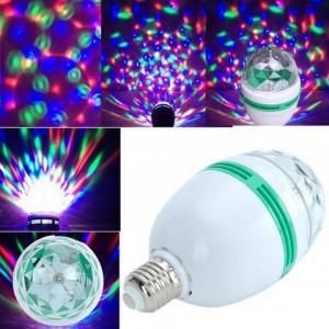 Вращающаяся разноцветная лампа LED Full Color Rotating Lamp G046 мульти