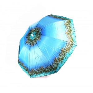 Пляжный садовый зонт от солнца Best Голубой с Пальмами с наклоном и регулировкой высоты 180 см