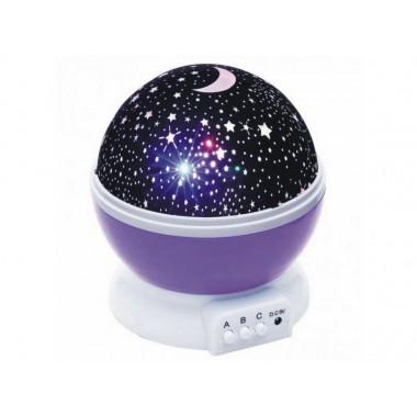 Проектор звездное небо ночник Star Master Dream TOPA круглый вращающийся корпус фиолетовый
