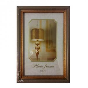 Фото рамка 10*15  рефленное золото (без ножки)