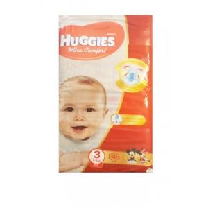 Подгузники Huggies ultra comfort №3 (50шт.) 4-9кг midi