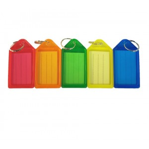 Брелок пластик. для ключей цветной Economix ассорти