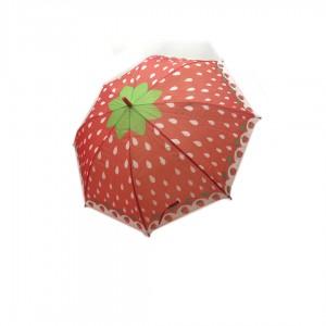 Зонт детский трость со свистком ФРУКТЫ 65 см