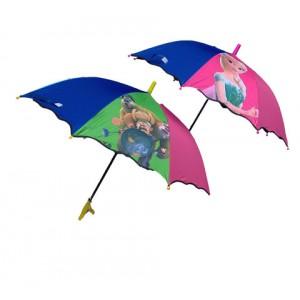 Зонт детский трость со свистком РАДУГА  87см