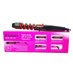 Плойка для волос спиральная Kemei ZFQ-KM-1215 черный