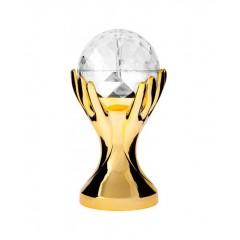 Светодиодный Диско шар Лампа в Руке LED СВ-0303 для дома вечеринок Золотой
