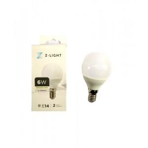 """Z-LIGHT LED Лампа """"шарик"""" G45 ZL 14506144 6w 4000k E14"""