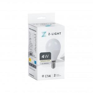 """Z-LIGHT LED Лампа """"шарик"""" G45 ZL 14504144 4w 4000k E14"""