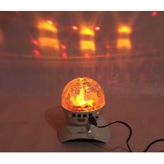Лампа-проектор светодиодный LED музыкальный диско шар 1200мАч. с блютузом