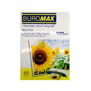 """Пленка д/ламин. """"BuroMAX"""" 154х216 А5 100мк BM7754 (100л)"""