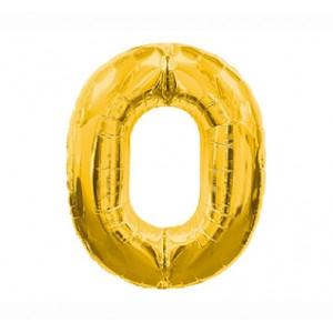 Кулька цифри золото 45см. номер -0