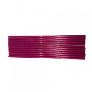 Клей для термопістолетів кольоровий з глітером 0,7-30 Рожевий