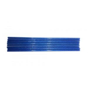 Клей для термопістолетів кольоровий з глітером 0,7-30 Синій