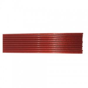 Клей для термопістолетів кольоровий з глітером 0,7-30 Червоний