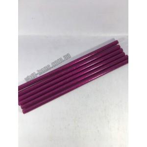 Клей для термопістолетів кольоровий з глітером 1,1-30 Рожевий