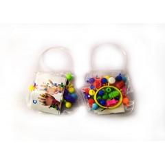 Набір дитячих намистин  30 гр, заготовки для браслета і кілець 12 наб/уп