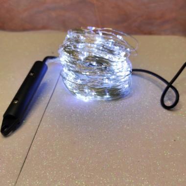 Светодиодная гирлянда нить конский хвост 3м 200 led от сети белый