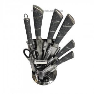 Набор кухонных ножей Rainberg RB-8804 из 9 предметов серый-мрамор