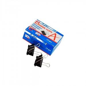 Біндер 41мм A PLUS метал чорний  12шт/пач