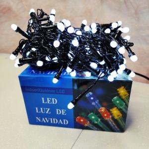 Гирлянда Дождик черный провод 3,3мм с вилкой круглая матовая лампа 3 м  120LED белый