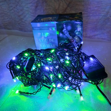 Гирлянда Дождик черный провод прозрачная коническая лампа 3 м 120LED микс