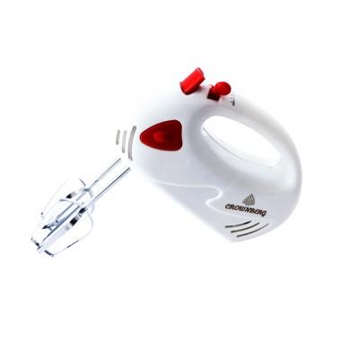 Миксер ручной Crownberg CB-432 White 200 Вт (7 скорост. 2 насад взбив. 2 насад тесто)