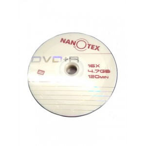 Диск DVD-R Nanotex bulk 16x (4,76Gb, 120мин)