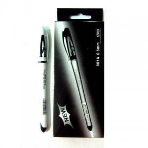 Ручка гелевая  АН-801 черная (12) (144)
