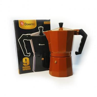 Гейзерная кофеварка DT-2709 на 9 чашек для газовых плит коричневая